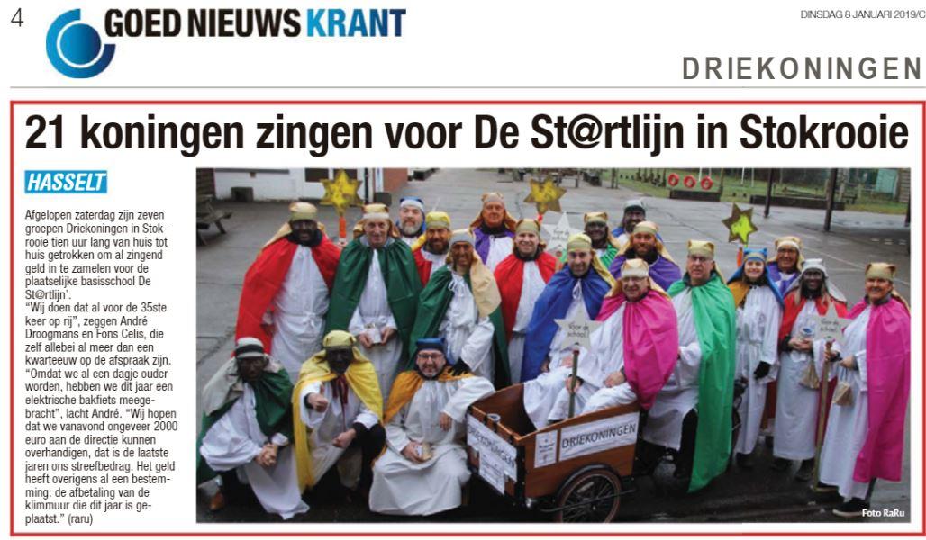 Artikel BVL : 21 koningen zingen voor de Startlijn
